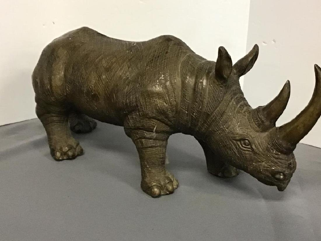 Bronze sculpture of Rhinoceros