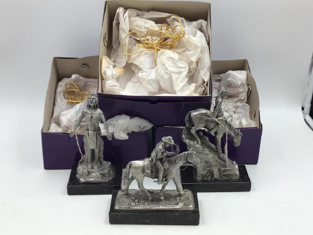 3 pewter sculptures by Philip Kraczkowski