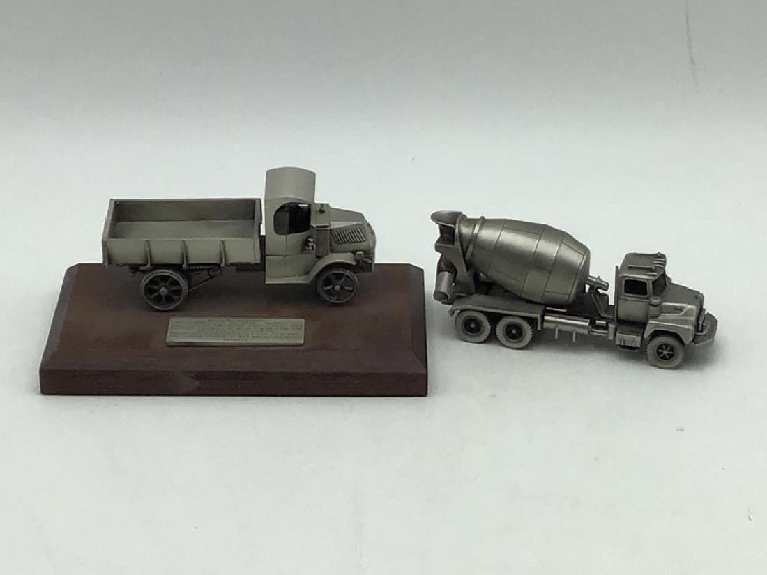 2 Mack Truck Pewter Desk Pieces