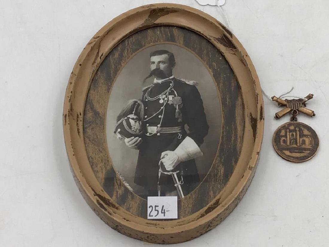 Infantry officer photo and Arsenal commemorative