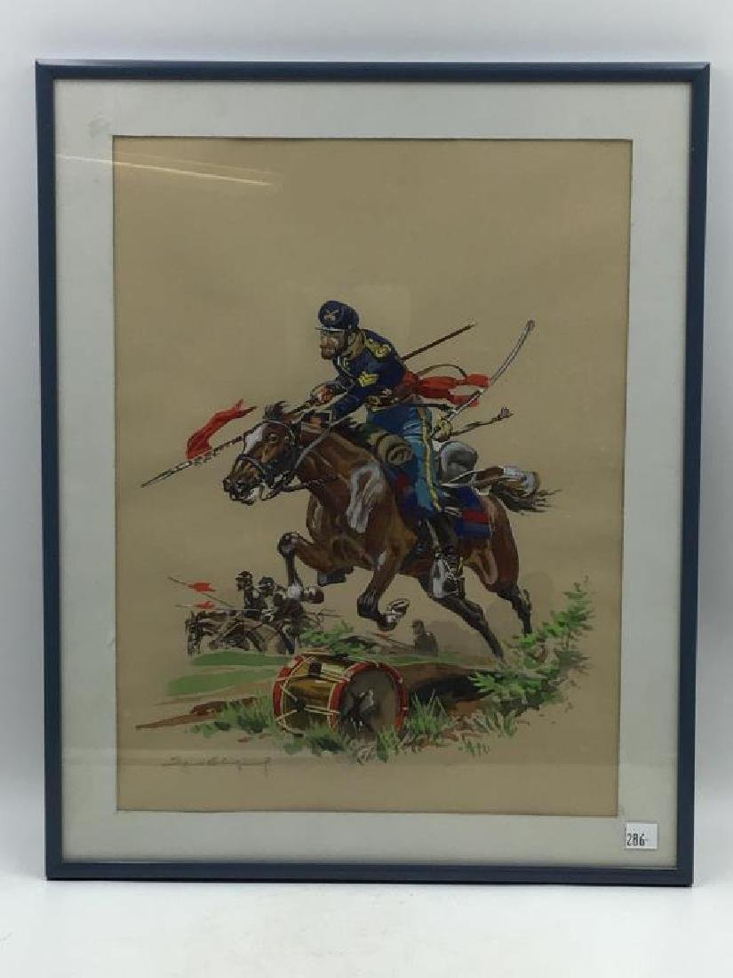 Watercolor -Indian War Calvary Union