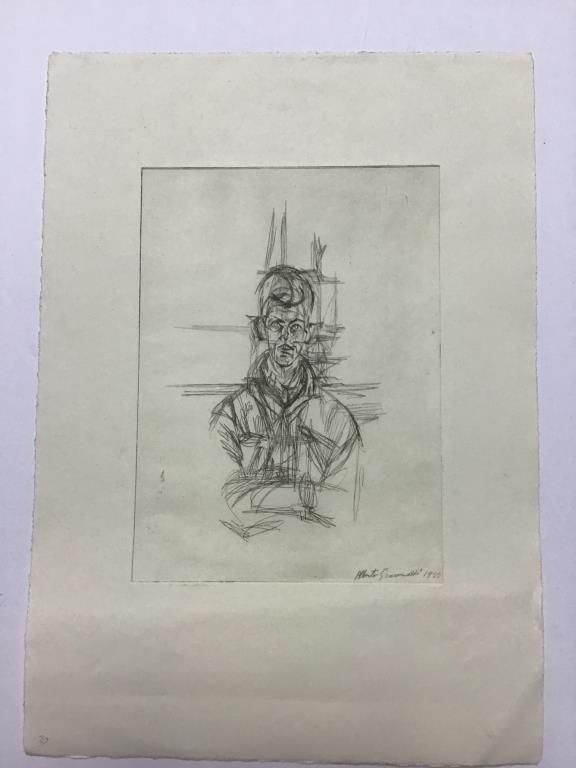 Print of Sketch from the Estate of Ben Marcune