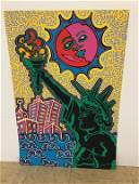 Liberty Pop Art Print by Kip Frace