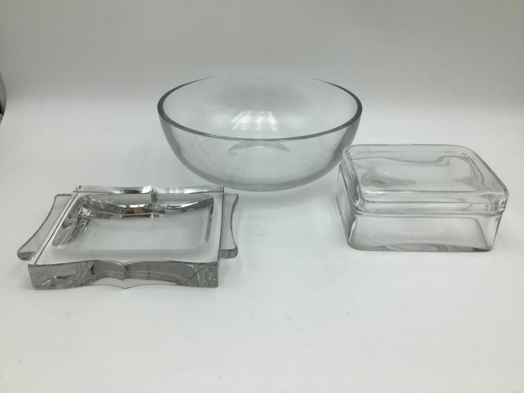 Baccarat Glass, Lot of three