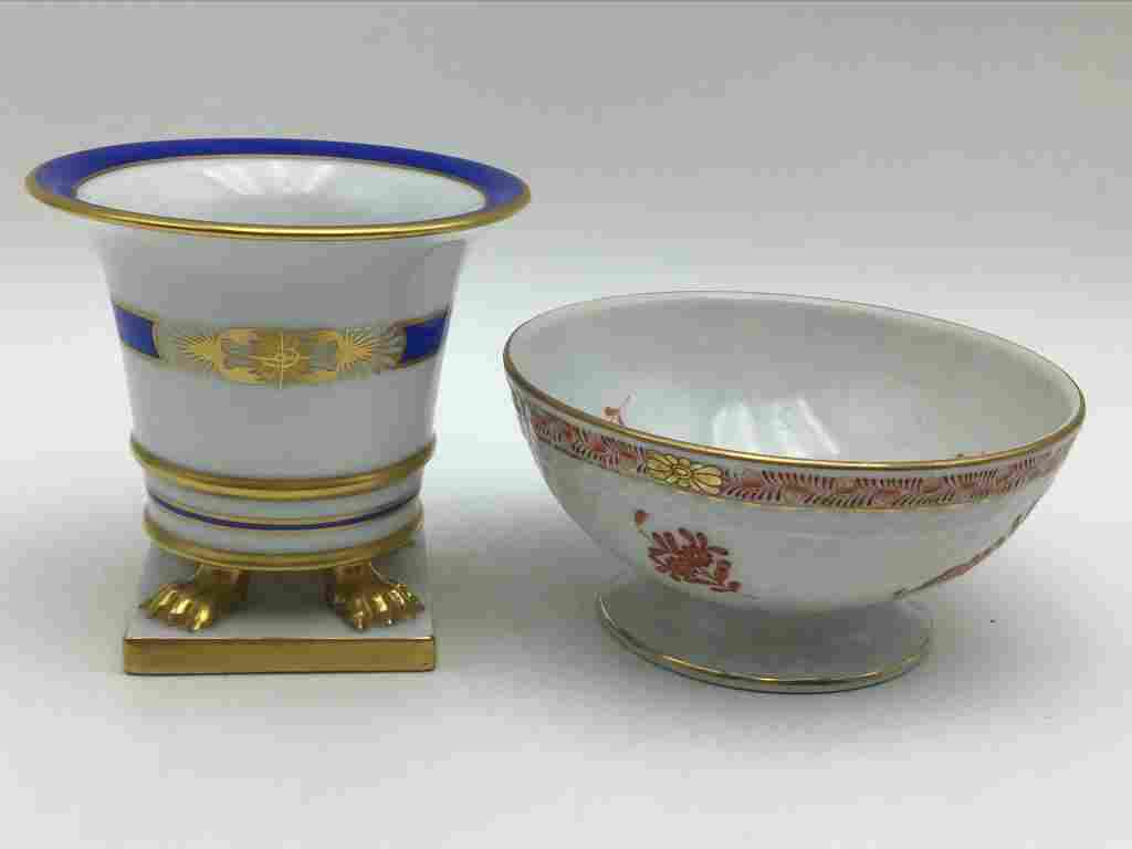 Two hand painted HEREND Bowls