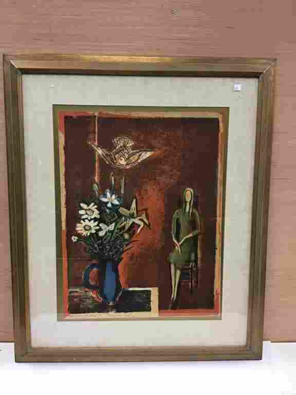 """""""Autumn"""" by Francoise Gilot, Lithograph Hess Collection"""