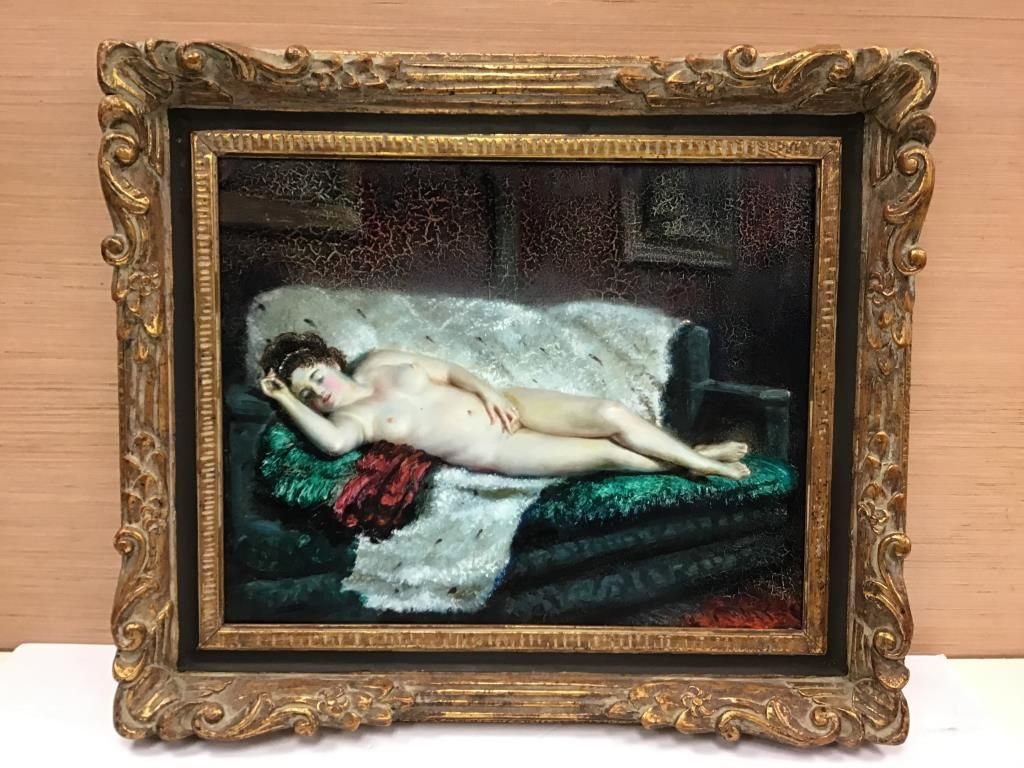 Nude Oil Painting in Frame