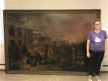 Important Emmanuel Leutze oil on canvas painting