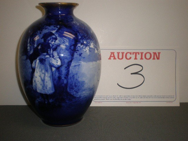 """3: Royal Doulton """"babes in the woods"""" vase. Bulbous for"""