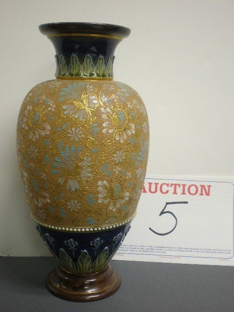 5: Royal Doulton Slaters pottery chine vase. Chine and
