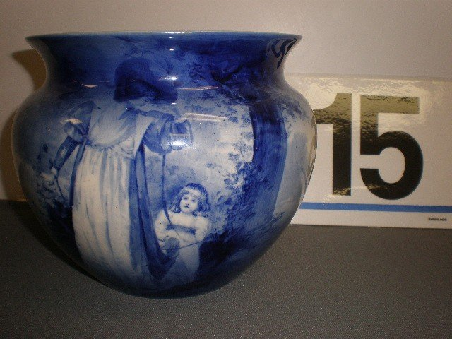 """15: Royal Doulton """"babes in the woods"""" jardiniere. Imag"""