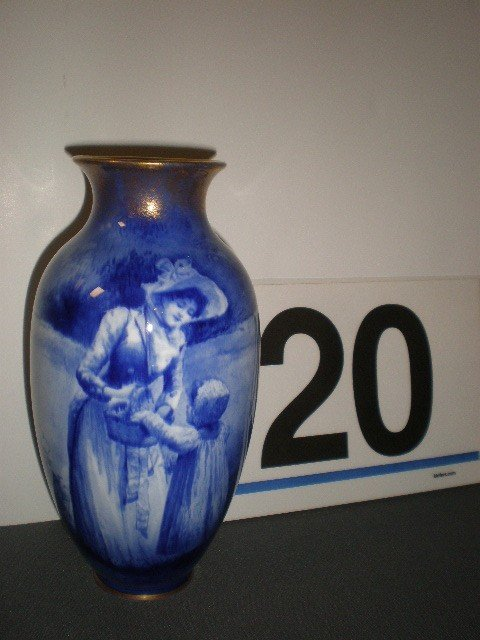 """20: Royal Doulton """"babes in the woods"""" vase. Image of w"""