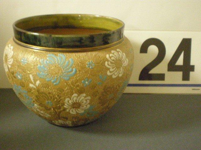 24: Royal Doulton Lambeth Slaters pottery chine jardini