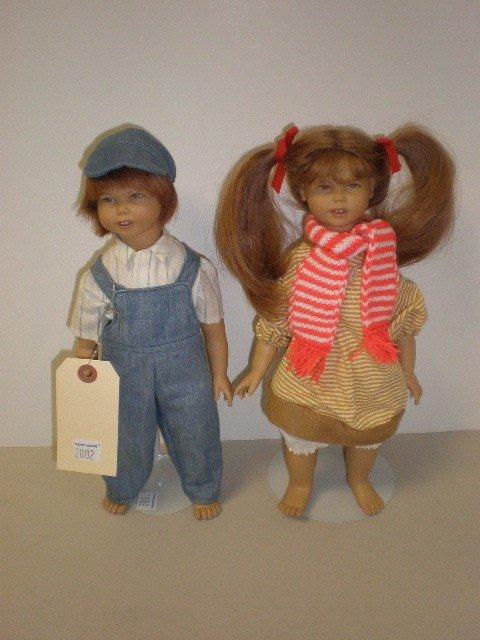 "2002: Lot of 2 dolls - 12"" vinyl with cloth bodies Heid"