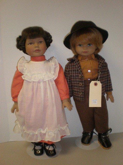"2004: Lot of 2 dolls - 20"" vinyl and cloth bodies Heidi"