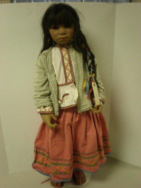 """2012: Annette Himstedt 35"""" tall Barefoot Children Nativ"""