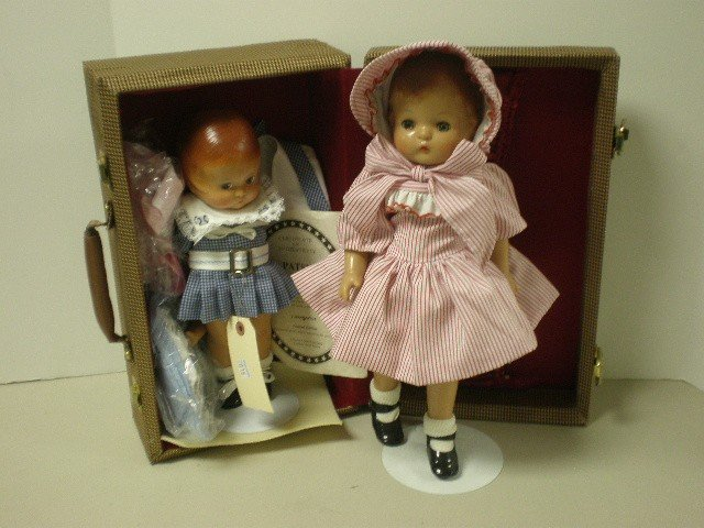 "2016: Lot of 2 Reissued Effanbee Patsy dolls - 12"" tall"