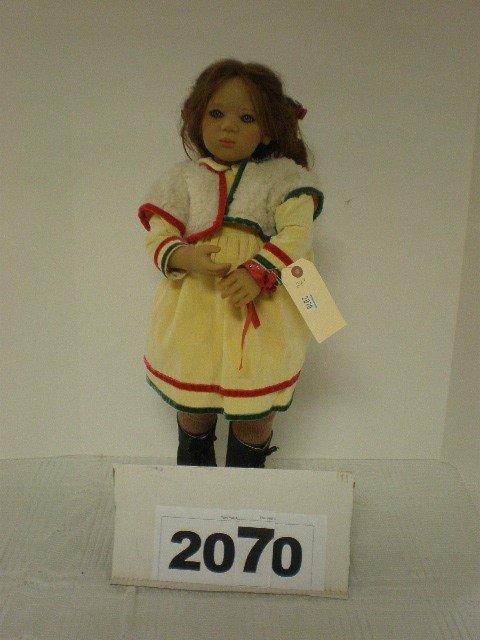 """2070: Annette Himstedt vinyl doll, 24"""" tall, named Dela"""