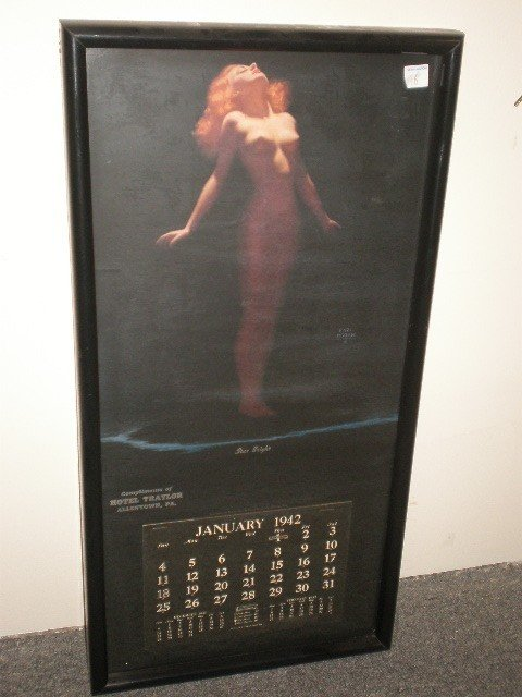 "16: Earl Moran ""Star Bright"" 1942 nude calendar & print"