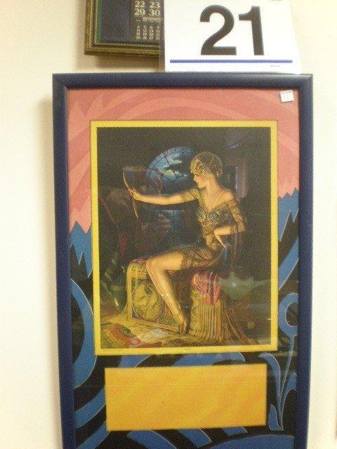 "21: Gene Pressler ""Jewels"" calendar print. Seated femal"