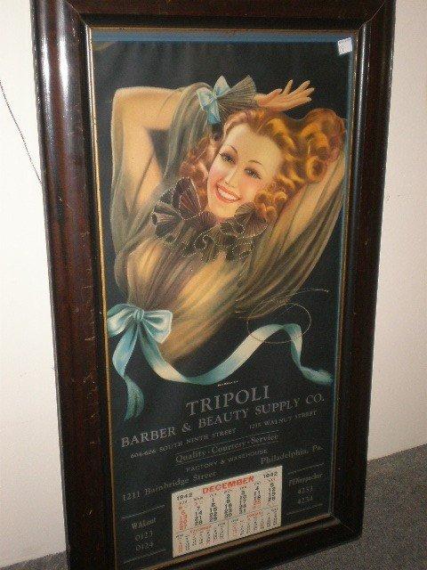 "22: Billy DeVorss ""Blue Ribbon Girl"" 1942 calendar & pr"