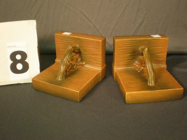 8: Roseville Bookends