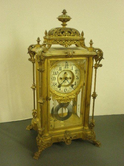 137: Ansonia Antique Crystal Clock