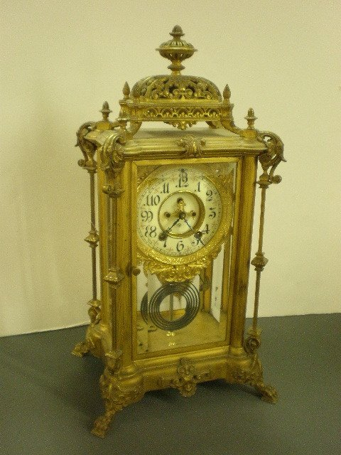 137: Ansonia Antique Crystal Clock