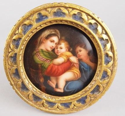 7: Miniature Porcelain Plaque