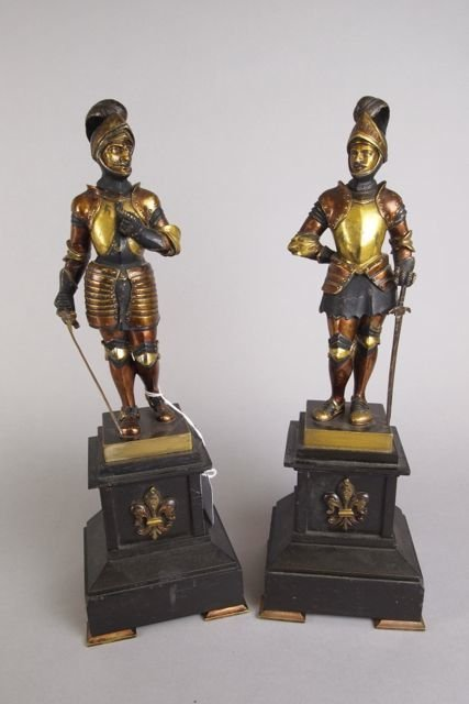 22: Pair of Bronze Statues