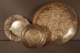 88 Three Pieces Sterling  Bowl Dish Plate