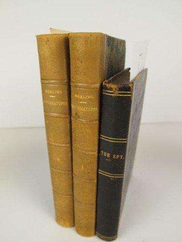 Lot of Three Leather Spined Books
