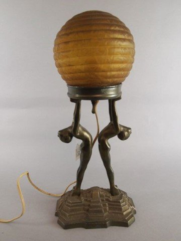 Art Deco Lamp - Nov 26, 2013 | Tom Hall Auctions Inc. in PA
