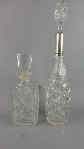 Lot of 2 Crystal Decanters