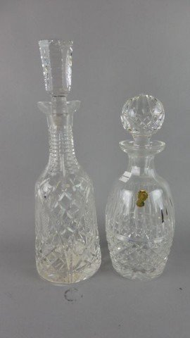 Lot of 2 Decanters