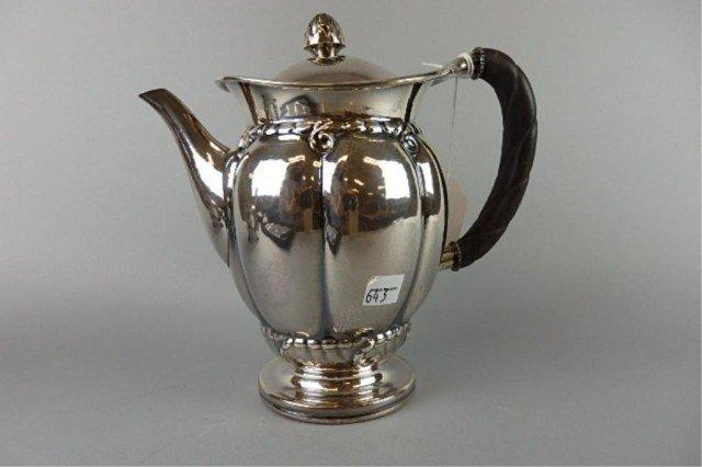 Georg Jensen Sterling Coffee Pot