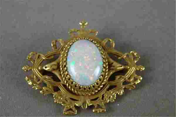 Gold and Opal Brooch