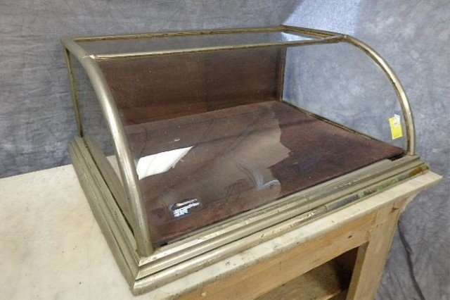 Early Bow Front Counter Showcase