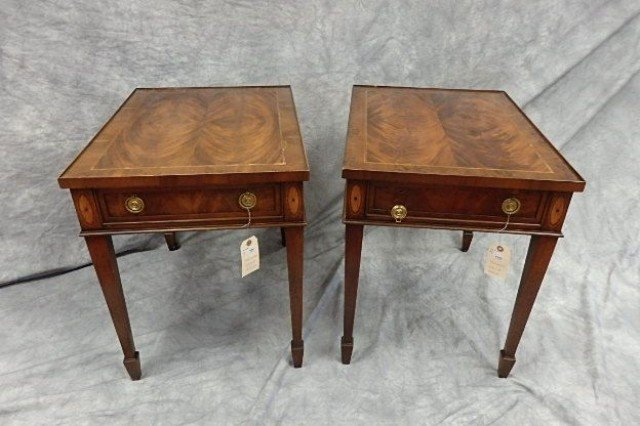 Pair of One Drawer End Tables