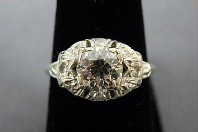 Ladies 14k White Gold Diamond Ring