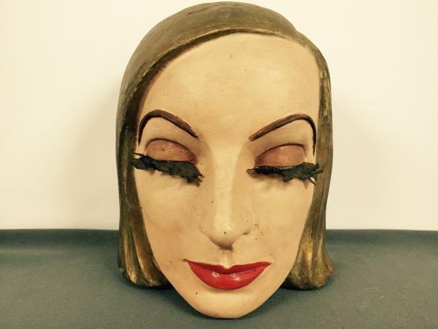 Paper Mache' Mask by Violet Clark (Eddy)