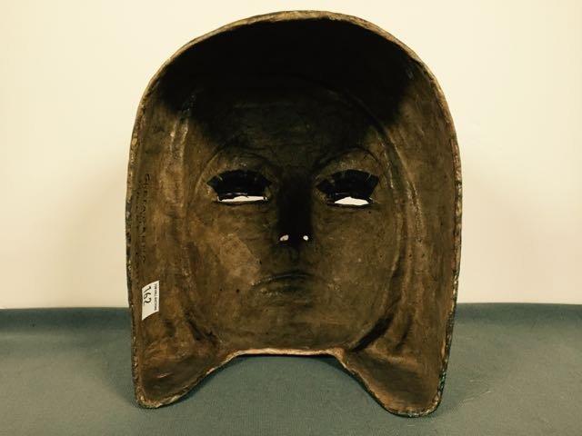 Paper Mache' Mask by Violet Clark (Eddy) - 2