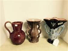 Lot of Three Gonder Pottery Pieces