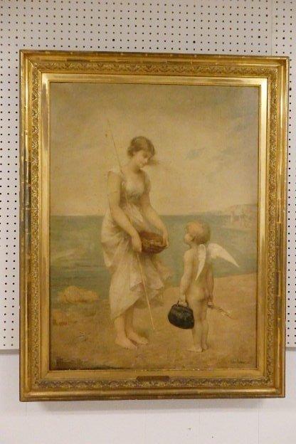 Jean - Aubert Oil on Canvas