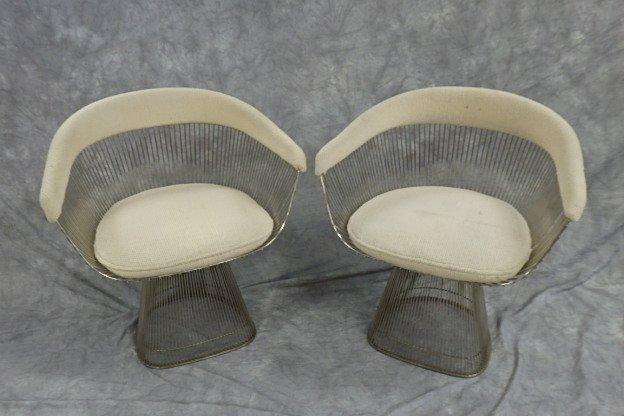 2 Knoll Warren Platner wire arm chairs