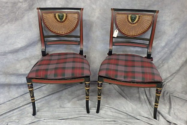 Pair of Regency Style Side Chairs