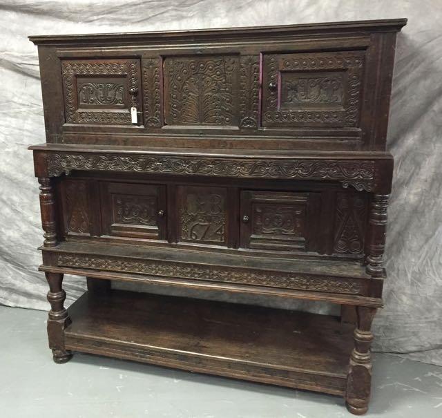 Jacobean European Oak  Sideboard