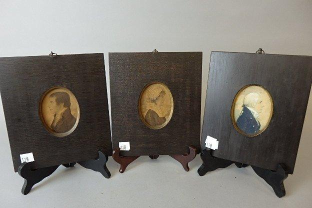 Three Revolutionary War Period  Portraits