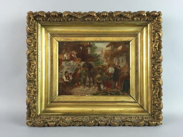 Oil on Wood Panel, Franz Defregger
