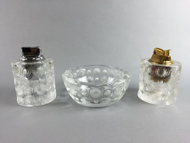 Lalique Lighter and ashtray